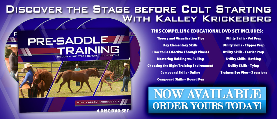 NEW horse training education DVD - Pre-Saddle